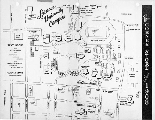 Plot Plan of S.U. in 1950s